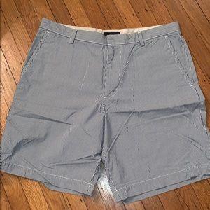 Banana Republic Shorts Size 36 Pinstripes Blue